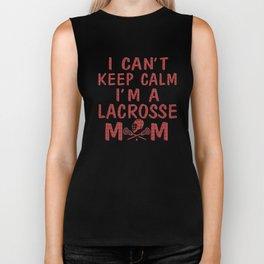 I'M A LACROSSE MOM Biker Tank