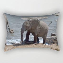 Baby elephant - Ellie Wen Rectangular Pillow