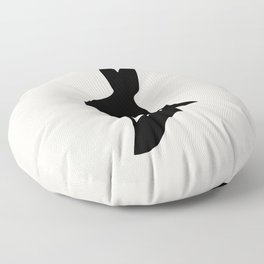 Monsieur Lapin / Mr Rabbit - Animal Silhouette Floor Pillow