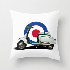 Mod scooter Throw Pillow