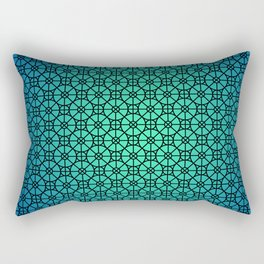 Morocco Pattern Blue Rectangular Pillow