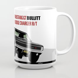 Ford Mustang and Dodge Charger from Bullitt Coffee Mug