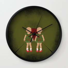 Twin Kids Wall Clock