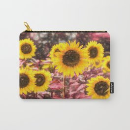 Sunflower Vibrant Art Carry-All Pouch