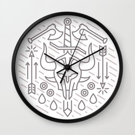 Fighter Emblem Wall Clock