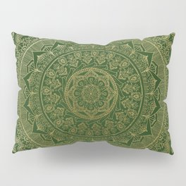 Mandala Royal - Green and Gold Pillow Sham