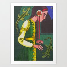 The Mistress of the Copper Mountain Art Print