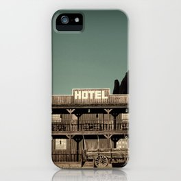 Old West Hotel fine art photography iPhone Case