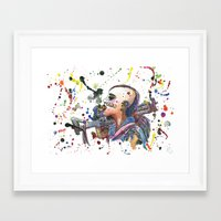 tank girl Framed Art Prints featuring Tank Girl by Abominable Ink by Fazooli