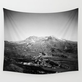Mount St. Helens in Black and White - Holga Photograph Wall Tapestry