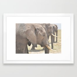 Line of Giants Framed Art Print