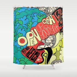 Animal Collective Shower Curtain