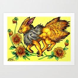 Evolve the Rainbow - Jolteon Art Print