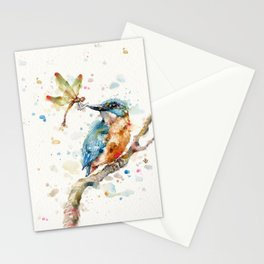 Interesting Relationships (Kingfisher & Dragonfly) Stationery Cards