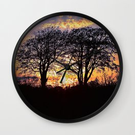 Summer Nights   Musical Crime Productions   Unique Photography of Nature Wall Clock
