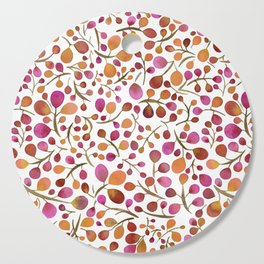 Tangle of Leaves - Autumn Berries Cutting Board
