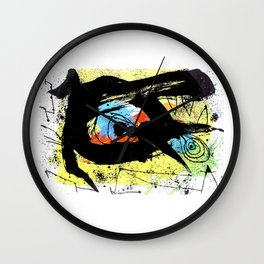 Joan Miro, Derrierre le Miroir no 203, 1973 Artwork, Tshirts, Prints, Posters, Bags, Men, Women, You Wall Clock