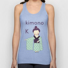 K is for Kimono Unisex Tank Top
