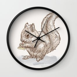 Pizza for All (Including Squirrels) Wall Clock