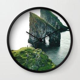 faroe landscape Wall Clock