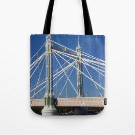 Albert Bridge on the Thames in London (2) Tote Bag