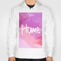 water colour Hoodies featuring Water Colour Home by Ladsandstuff
