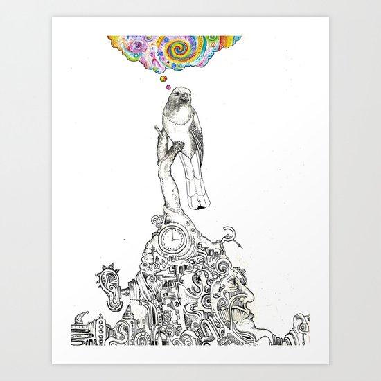 Bird Thought 1 Art Print
