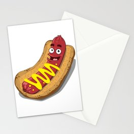 Hot Dog with Mustard Stationery Cards