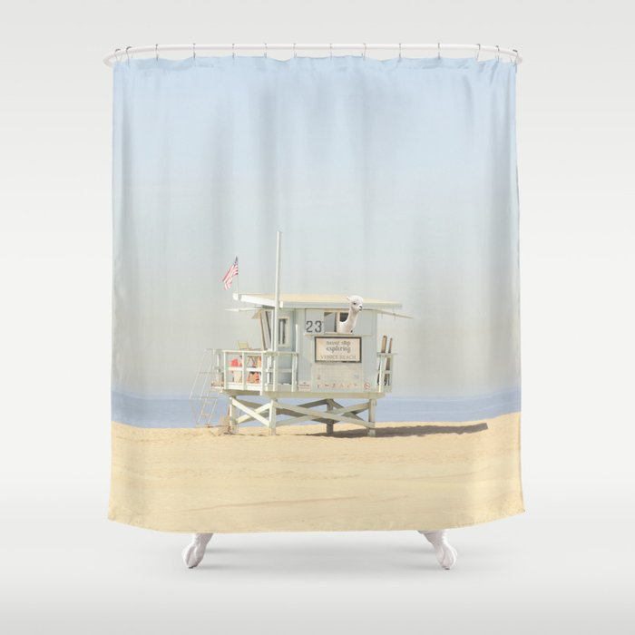 NEVER STOP EXPLORING VENICE BEACH No 23 Shower Curtain