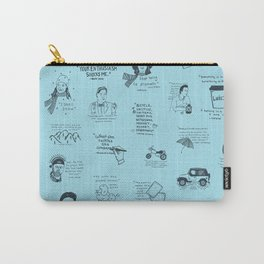 Gilmore Girls Quotes in Blue Carry-All Pouch