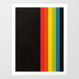 Retro Camera Color Palette Art Print
