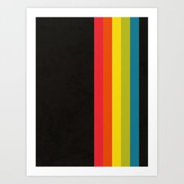 Retro Camera Color Palette Art Print