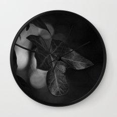 One Colour Leaf Wall Clock