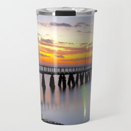 Wellington Point Jetty Sunrise Travel Mug