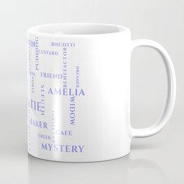 Amish Sweet Shop Mysteries Word Puzzle Coffee Mug