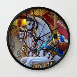 Vintage Carousel Horses Wall Clock