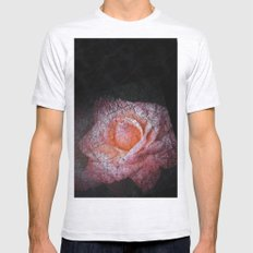 dark rose Ash Grey SMALL Mens Fitted Tee