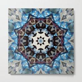 K186 Fancy Blue Octagon Metal Print