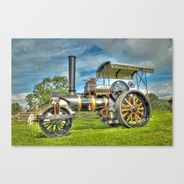 Fowler T3 Road Roller Canvas Print