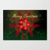 merry christmas Canvas Prints featuring Merry Christmas by Roger Wedegis