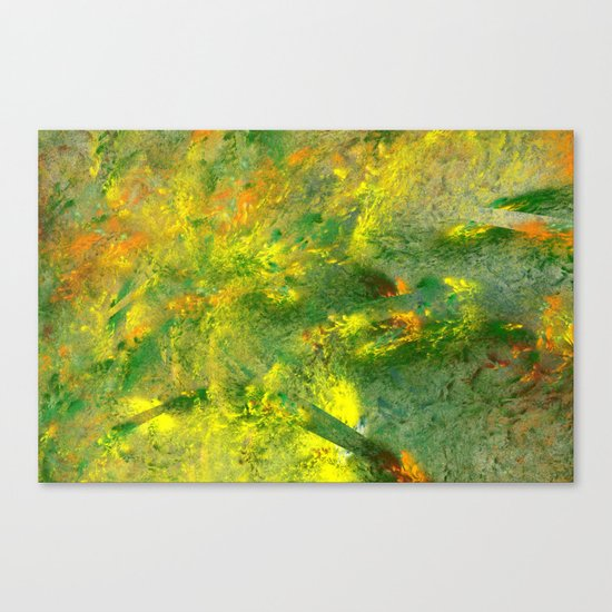 easy green and a live Canvas Print
