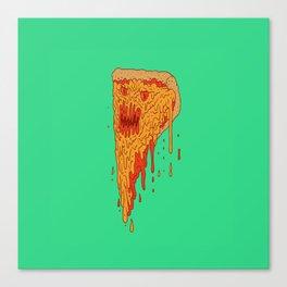 Evil Pizza Canvas Print