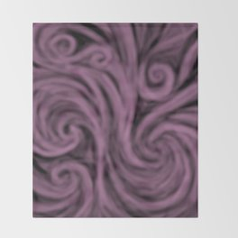 dark lavender swirl Throw Blanket