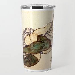 "Egon Schiele ""Reclining Woman with Green Stockings"" Travel Mug"