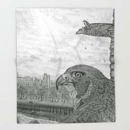 The Urban Peregrine Throw Blanket