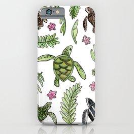 Sea turtle pattern iPhone Case