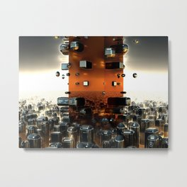 The Fractals of the Future 3D Modeling Metal Print