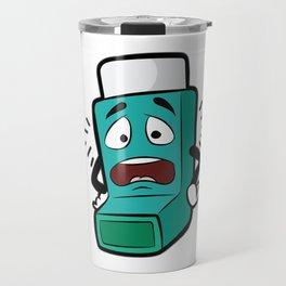 I SUCK AT BREATHING Inhaler Inhale Wheeze Sports Travel Mug