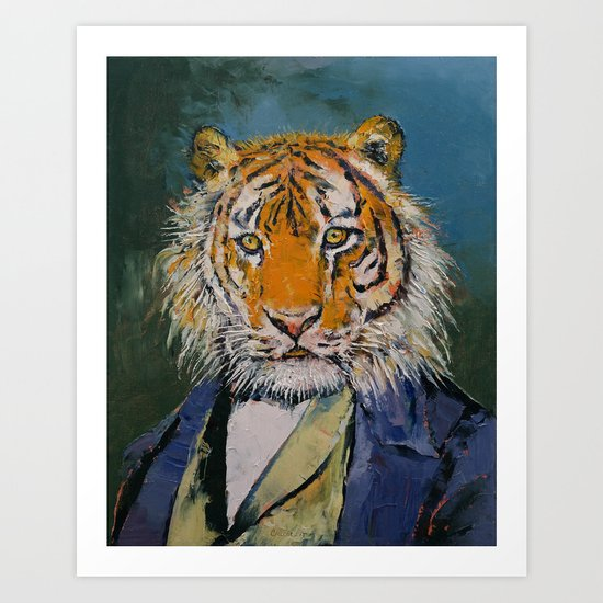 Gentleman Tiger Art Print