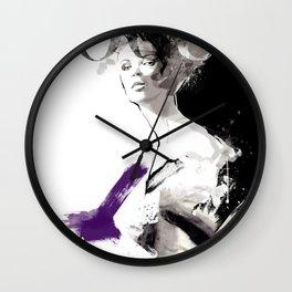 Vogue Fashion Illustration #2 Wall Clock